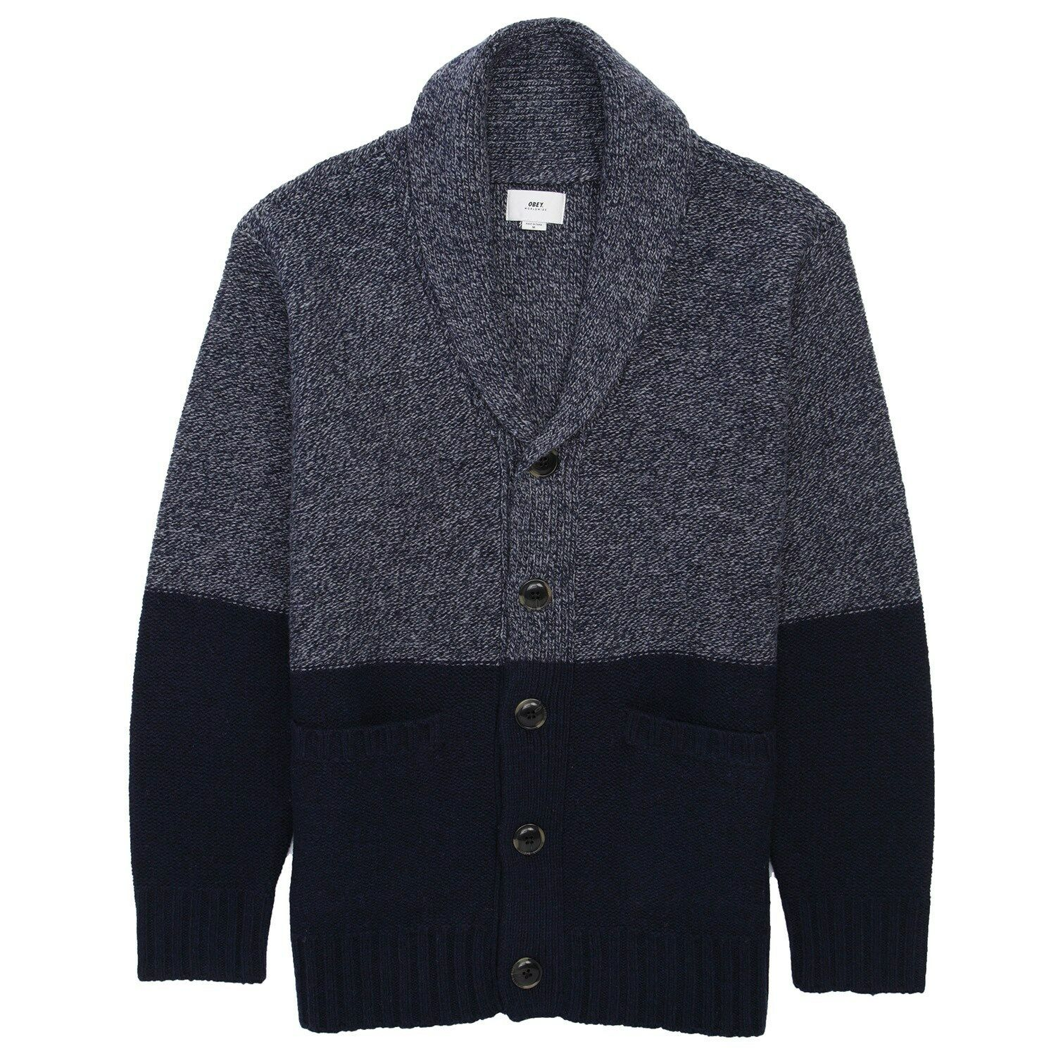 OBEY HOLDEN CARDIGAN SWEATER NAVY blueE SZ S-3XL  MSRP NWT