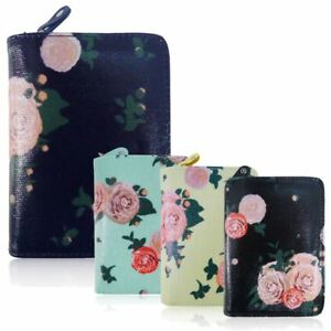New-Womens-Short-Purse-Girls-Blossom-Print-Wallet-Ladies-Oilcloth-Coin-Purse