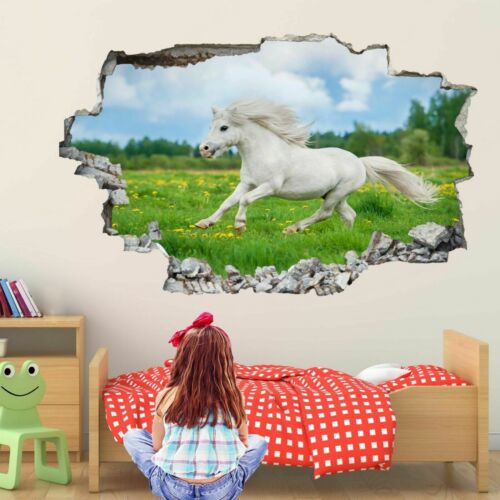 Shetland Pony Horse Grass Wall Stickers Mural Decal Kids Bedroom Home Decor EA8