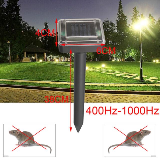 1-4Pcs Solar Power Ultrasonic  Mouse Gopher Mole Pest Rodent Repellent Repeller