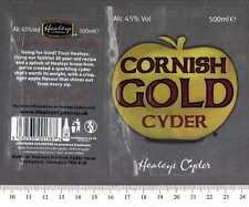 UK Beer Label - Healey's Cyder Brewery - Cornish Gold Cyder