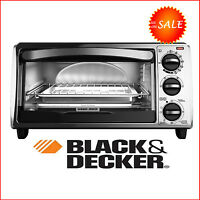 4 Slice Toaster Pizza Oven Stainless Steel Conventional Black And Decker Silver