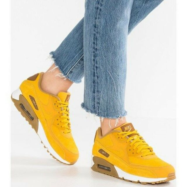 low priced a3759 c371a Nike WMNS Air Max 90 SE Women Lifestyle SNEAKERS Mineral Yellow 881105-700  9.5