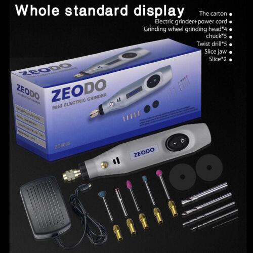 12v DC Grinder Dremel Mini Electric Drill Grinding Engraving Machine Tool Kit