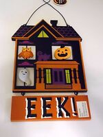 Wood Haunted House Boo Sign Trick Or Treat Halloween Autumn Decoration Fall