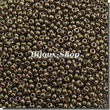 20 grs de Perles de rocailles Tchèque Bronze Or  2,4 mm  Marque Ornella