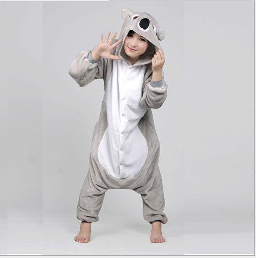 Unisex Adult Kigurumi Pajamas Anime Cosplay Costume Onesie Sleepwear Koala