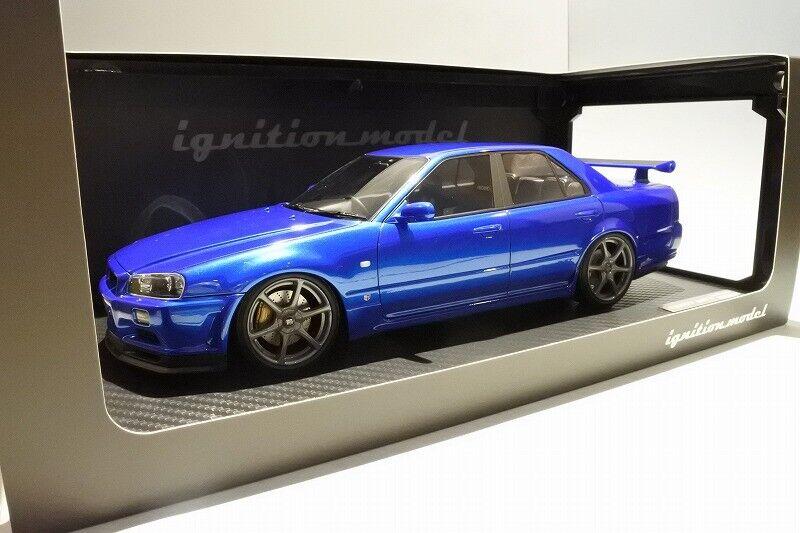 Encendido IG1584 Modelo 1 18 Nissan Skyline 25 GT Turbo (ER34) 3 Púrpura de medianoche