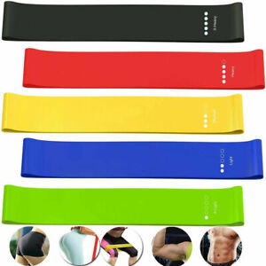 Resistance Bands Exercise Sports 5PCS Loop-Set-Fitness Home-Gym Yoga Latex