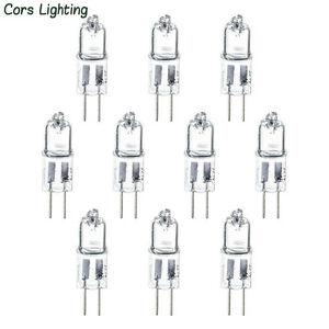 10pcs-G4-12V-10W-10watt-Halogen-Light-Lighting-Lamp-Bulb-US-Ship