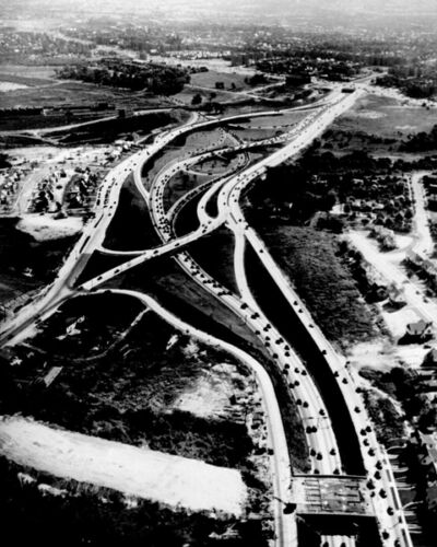 1936 LONG ISLAND HIGHWAYS AERIAL VIEW 8X10 PHOTO NYC