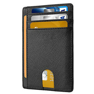 Men's Leather Magnetic Slim Money Clip Wallet Credit Card ID Holder Pocket