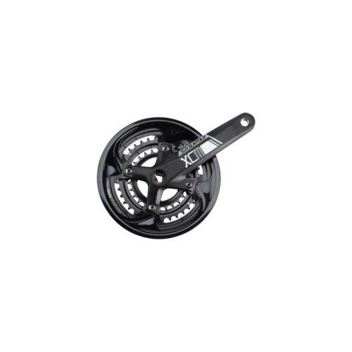 Noir 48//36//26t 170 mm SQUARE Conique SR Suntour XCM-T Pédalier: 9-Vitesse