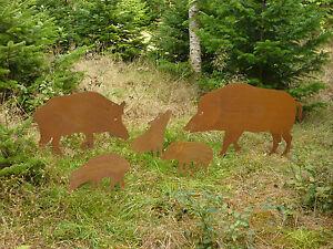 Edelrost wildschwein keiler bache frischling for Edelrost skulpturen