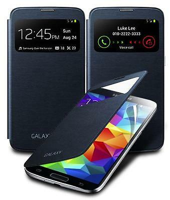 S-VIEW FLIP CASE BATTERY COVER & SCREEN GUARD FOR VARIOUS SAMSUNG GALAXY PHONES