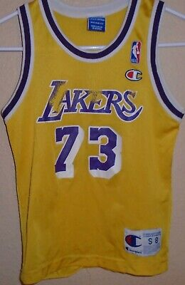 Vintage Dennis Rodman Lakers Jersey #73 Authentic Champion youth small | eBay