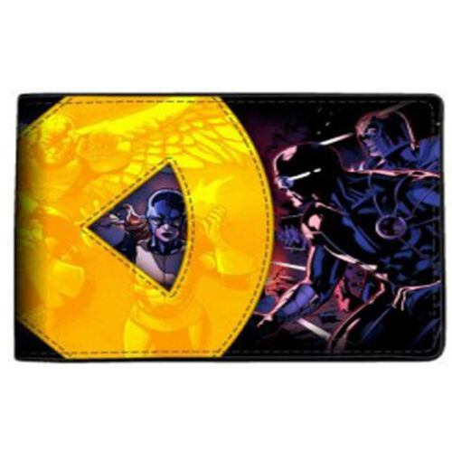 X-Men Applique Yellow Logo Bi-Fold Wallet NEW Accessories Money Holder