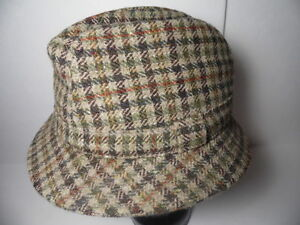 Image is loading Vtg-1980s-J-J-CAMPBELL-Donegal-Handwoven-Fedora-MENS- 2ef841e5ae50