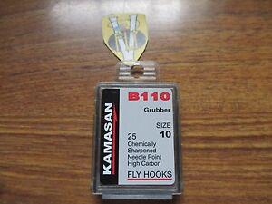 Kamasan B405 trout sub surface trout fly tying hooks size 14 box of 25 hooks