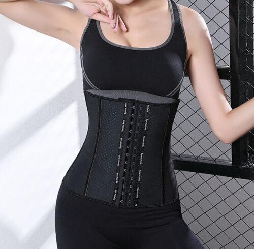 Women Latex Waist Training Corset Steel Bone Underbust Body Shaper Long Torso