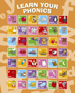 Educational Phonics Mini Poster Print 16x20 Ebay