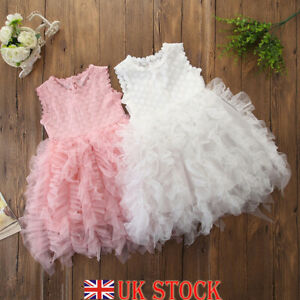 Fabulous Baby Girl Toddler Party Tutu Dress Pageant Wedding Birthday Cake Personalised Birthday Cards Akebfashionlily Jamesorg