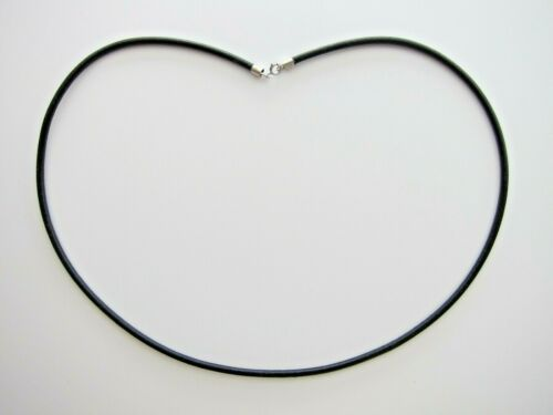 2\3 mm Genuine Leather Necklace \ Bracelet with 925 Sterling Silver Clasp.