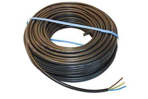 0,8€//m PVC Schlauchleitung Anschlussleitung H05VV-F 3G1,5 3x1,5 Schwarz 5m