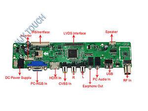 c53eb130087 La.mv 9. P Universal Tv Lcd Controlador Driver Board pc vga hdmi ...