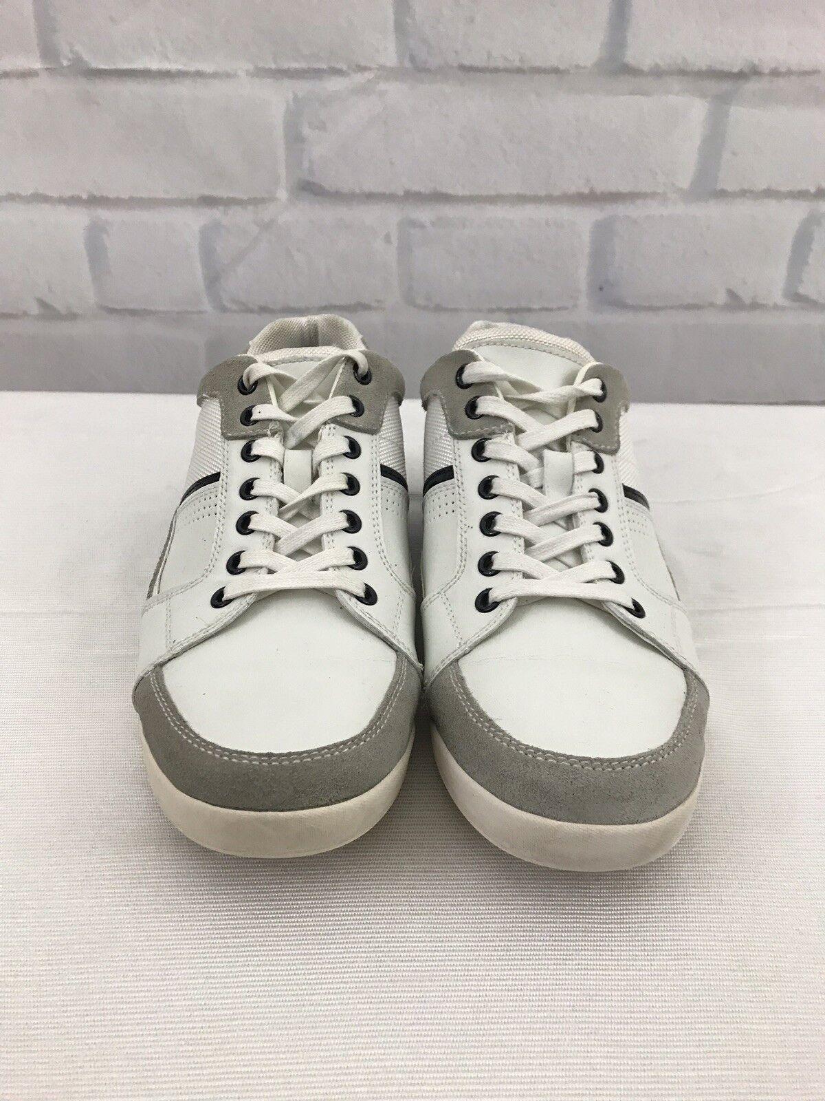 Aldo Men's Two Tone Fashion Sneakers Size 10 White And Cream