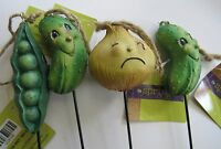 Set Of 4 The Spring Shop Vegetable Cucumber Pesa Onion Garden Pics