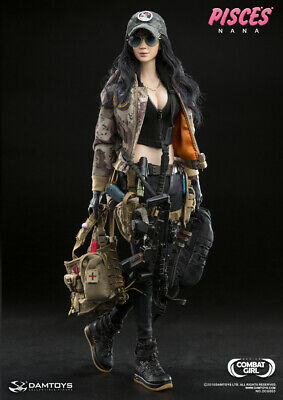 """DAM TOYS 1//6 DCG003 Combat Girl Series PISCES NANA Tactical backpack F12/"""" Action"""