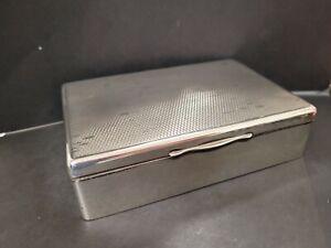 George V Sterling Silver Cigarette Box Chester 1927