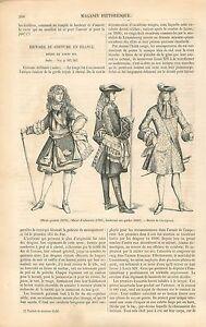 Costume-Louis-XIV-Officier-General-Infanterie-Mousquetaire-GRAVURE-PRINT-1860