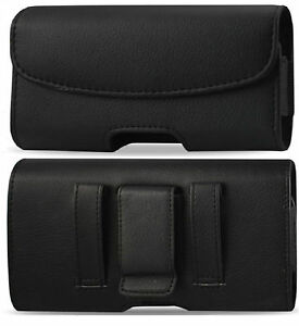 LEATHER-HOLSTER-WITH-BELT-CLIP-AND-LOOP-POUCH-CASE-COVER-TO-FIT-SAMSUNG-GALAXY