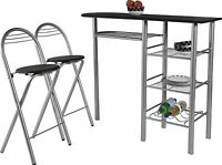 Dining Set Table 2 Chairs Stools Kitchen Furniture Breakfast Bar Seat Home Seats