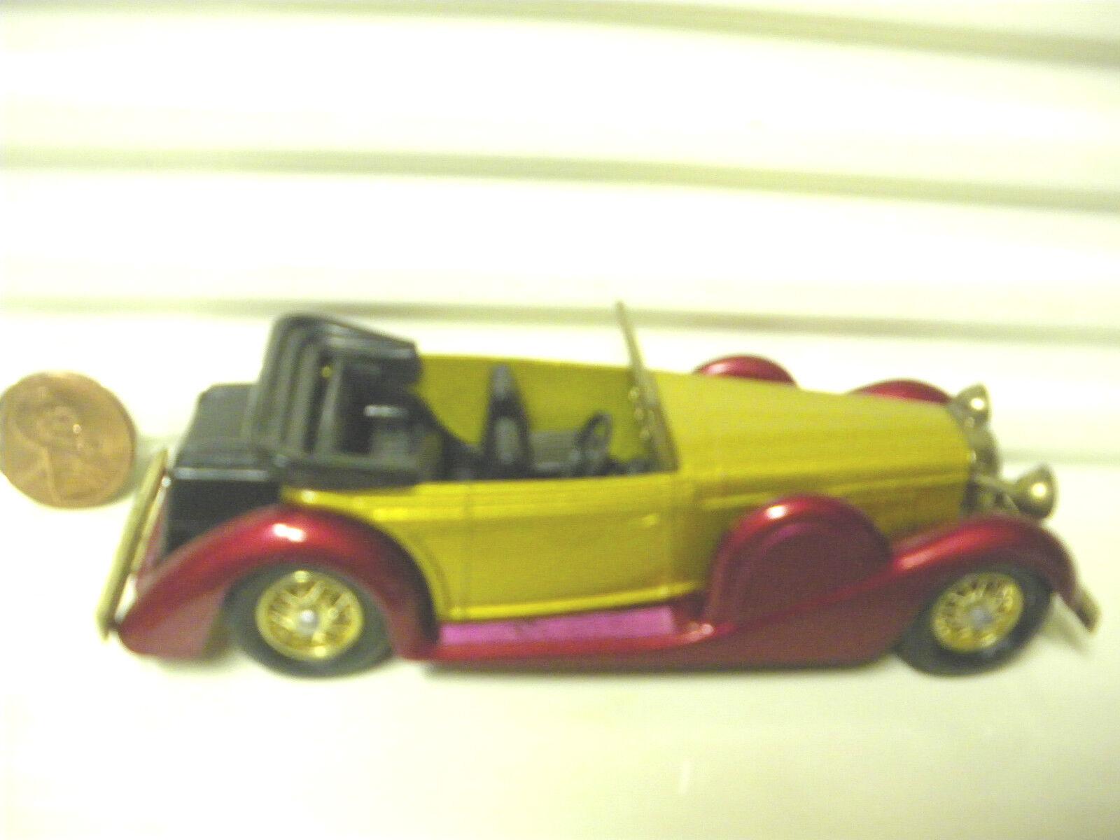 MATCHBOX LESNEY MODELS OF YESTERYEAR VERY RARE DARK RED + gold Y11C LAGONDA MIB