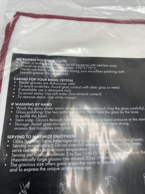 Riedel Microfiber Polishing Cloths Set of 3