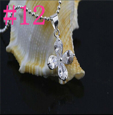 Wholesale Jewelry 925 Sterling Silver Swarovski Crystal Pendants Necklace Chain