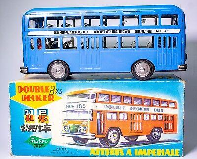"""Autos & Lkw Pflichtbewusst Vintage Chinese """" Rot China """" Reibung 594ms Doppeldecker Bus Mit Original Kiste"""