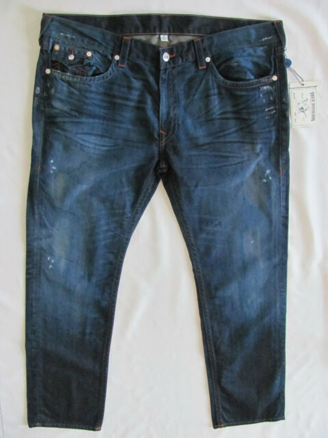 True Religion Skinny Flaps Jeans-Distressing Oil -Camshaft - Size 44- NWT 4bbff9cf3