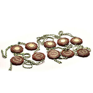 Auth-ROLEX-Tag-for-chronometer-10-pieces-Hologram-Red-Used-ip064