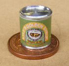 1:12 Scale Empty Golden Syrup Tin Dolls House Miniature Kitchen Food Accessory
