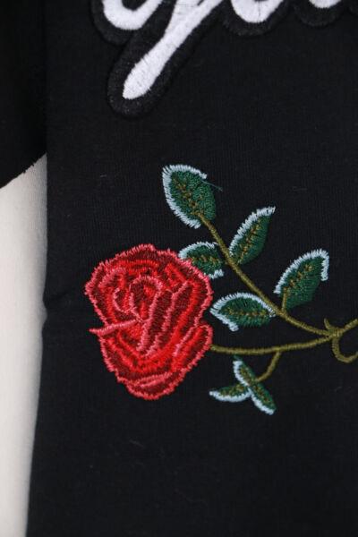 TS-93-2 schwarz Rosen bestickt Pastel Goth Lolita Kapuzen-Pullover Sweatshirt