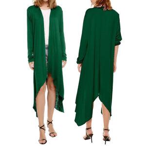 Women-Long-Sleeve-Solid-Slim-Fit-Cardigan-Open-Front-Casual-Coat-Jacket-Sweater