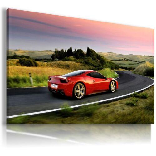 FERRARI ITALIA RED Super Sport Cars Large Wall Canvas Picture ART AU316 MATAGA .