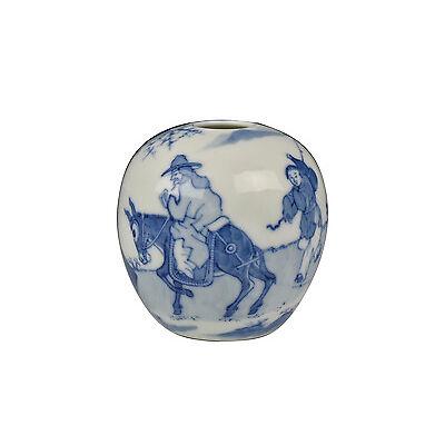 Antique Qing Dynasty Chinese Porcelain Vase w/ Yongzheng Seal Mark
