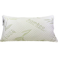 Original King Bamboo Comfort Memory Foam Pillow Hypoallergenic Stays Softer Cool