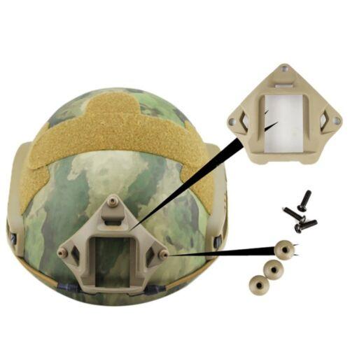 Tactical Three-Hole NVG Helmet Mount Adapter Base For Fast Helmet Carbon Steel