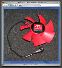 Mac Pro XFX Radeon HD 5870 / 5850 Series Video Card Cooling Fan Replacement